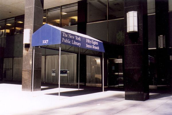 The New York Public Library branch at 58th Street