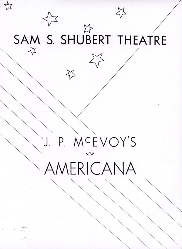 Cover of the Broadway revue Americana