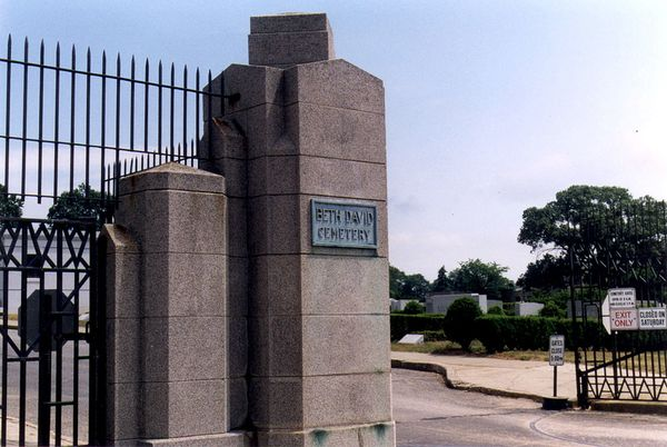 Entrance to Beth David Cemetery