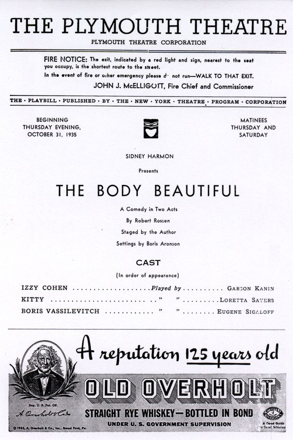 Program for The Body Beautiful (page 1)
