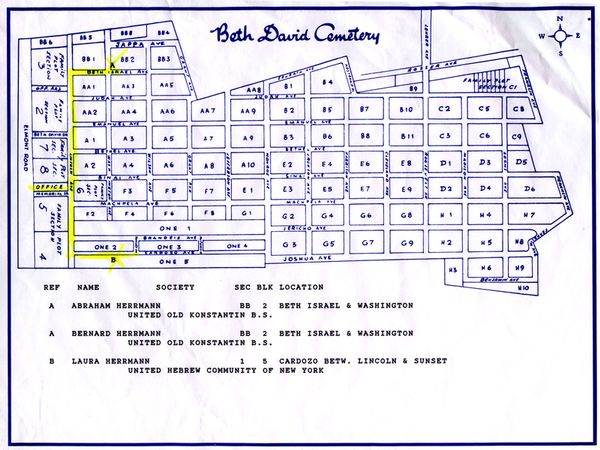Map of Beth David Cemetery