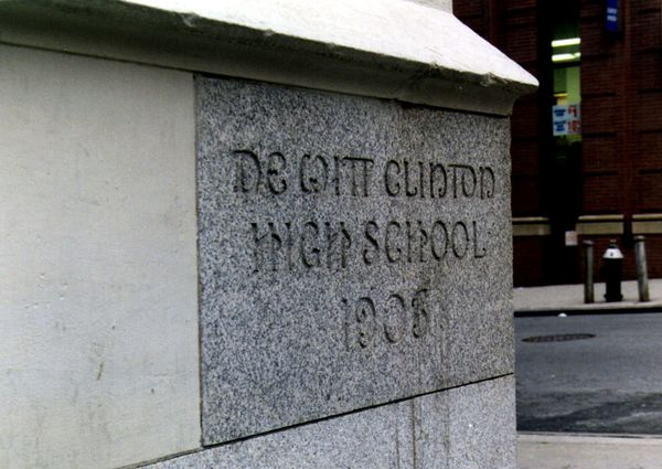 Cornerstone of DeWitt Clinton High School