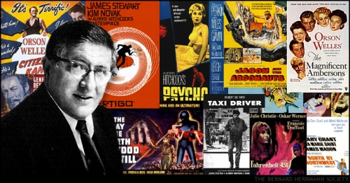Collage Bernard Herrmann And Film Posters The